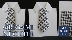 how to fold an origami necktie greeting card with origami shirt