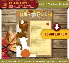 fall in love who knows the bride best game the party stork