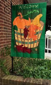 Fall Garden Flag Appliqué Fall Harvest Flag By Bald Eagle Flag Store