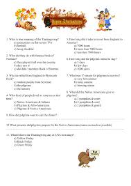 worksheet the story of thanksgiving