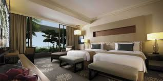 Twin Bed Hotel premier room in marina bay sands singapore hotel
