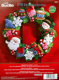 christmas toys wreath bucilla felt home decor kit 86363 fth