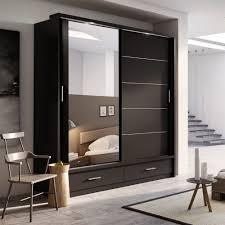 Indian Bedroom Wardrobe Designs With Mirror Interior Doors Modern Design Images Glass Door Interior Doors