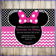 baby minnie mouse first birthday invitations home design ideas