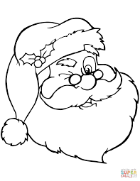 santa claus winking coloring page free printable coloring pages