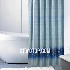 baby blue and dolphin animal waterproof modern cheap shower curtains