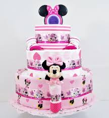 beautiful bows minnie mouse baby diaper cake baby