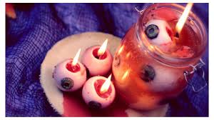 diy bleeding eyeball candles halloween room decor youtube
