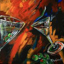 martini painting the 3 martini paintings for nick u0027s are done petergrantfineart u0027s
