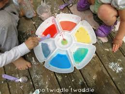 diy color mixing station with cornstarch water