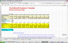 Cost Benefit Analysis Template Excel Cost Benefit Analysis Template Free And Software