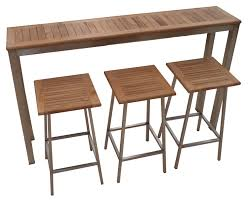 Teak Bar Table Outdoor Pub Table And Chairs Sosfund Pertaining To Teak Bar