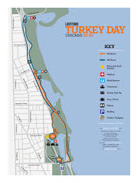 Map Run Route by Turkey Day Run Chicago Course