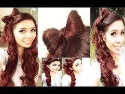 hair bow with hair easy bow hair tutorial plus a kawaii high side ponytail 2013