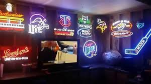 Neon Bar Lights 11 Easy Decoration Inspiration To Make Your Man Cave Look Bada
