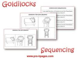 goldilocks and the three bears preschool activities