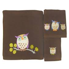 Home Design Brand Towels Amazon Com Allure Home Creations Awesome Owls 100 Percent Cotton
