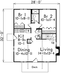 cottage style house plan 4 beds 2 00 baths 1280 sq ft plan 57 480