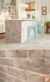 brick tile kitchen backsplash astonishing dining chair wall to best 25 brick tile backsplash ideas