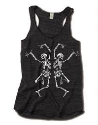 american apparel halloween halloween dancing skeleton tri blend tank top american apparel