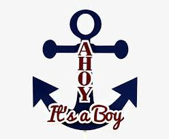 Items Similar To Nautical Anchor - ahoy it s a boy nautical cake topper anchor cake topper