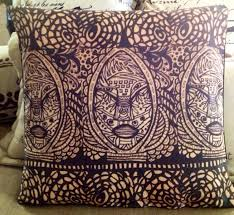afrocentric home decor tribal mask pillow cover african art