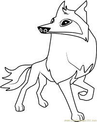 animal jam arctic wolf coloring pages printable coloring sheets