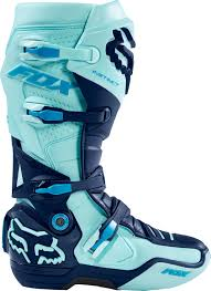 fox boots motocross fox mx boots instinct ice blue limited edition glen helen 2016