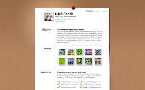 Business Card Resume 35 Inspiring Business Card Resume Themes