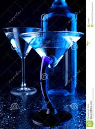 blue martini blue martini glasses stock image image 17235371