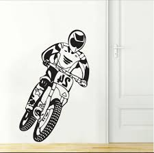 popular bike wall decal buy cheap bike wall decal lots from china dsu cool boy home decor motocross motorcycle dirt bike bedroom wall decal art decor sticker vinyl