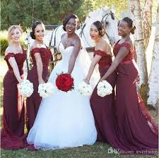 modabelle burgundy bridesmaid dresses long robe demoiselle d