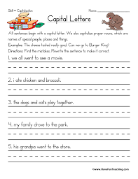 capitalization worksheets have fun teaching