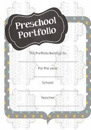 preschool ponderings what u0027s in my student portfolios