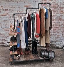 diy clothing storage reserved for charlotte custom garment rack cart blue garment