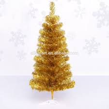 cheap small gold pet artificial trees on plastic stand