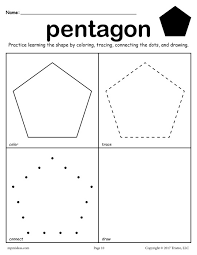 12 free shapes worksheets color trace connect u0026 draw