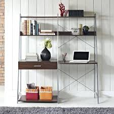 Ladder Bookcase Desk Combo Desk Excellent Leaning Shelf Bookcase With Computer Desk Office