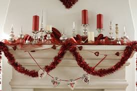 endearing valentine mantel decoration with sweetly ribbon hanging