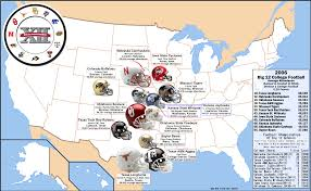 Nebraska On A Map College Football The Big 12 2006 Attendance Map