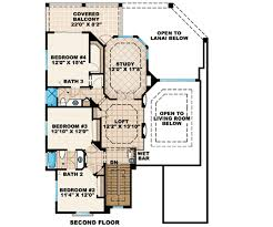 second floor plans two story mediterranean house plan 66237we architectural
