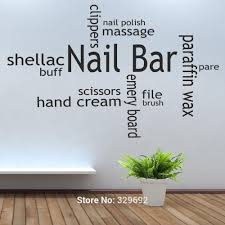 online get cheap wall art collage plane aliexpress alibaba hot nail bar collage hair beauty salon wall art stickers decal diy home decoration mural