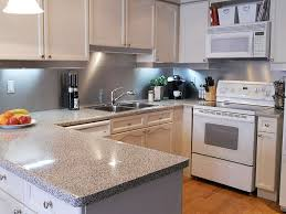 kitchen with stainless steel backsplash solid stainless steel backsplash decosee com