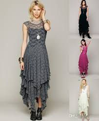 2016 women dresses hollow full lace party evening casual prom