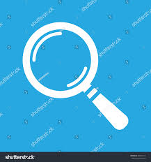 white search icon flat on blue stock vector 382064116 shutterstock