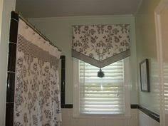 ideas for bathroom window treatments hookless escape 45 inch bath window curtain panels in white
