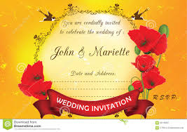 wedding invitation background free download poppies flower wedding invitation background stock vector image