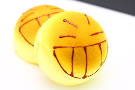 emoji funny creative kitchen fake food play toy wink bread cake