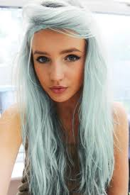 frosted gray hair pictures denim hair is the latest trend as women dye their hair purple blue