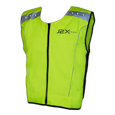 mens hi vis cycling jacket j2x fitness led high visibility reflective running cycling vest